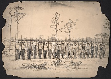 thumbnail image for Lafayette and Corinth, Miss., Guards drilling at Mobile drawn by Victor S. Perard from a photograph, published in Scribner's popular history of the United States p. 244.