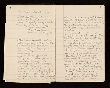 thumbnail image for William Christopher diary of march from Selma to Montgomery, Alabama