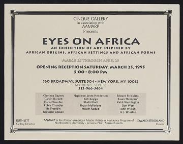 thumbnail image for Flyer for <em>Eyes on Africa</em>, Cinque Gallery