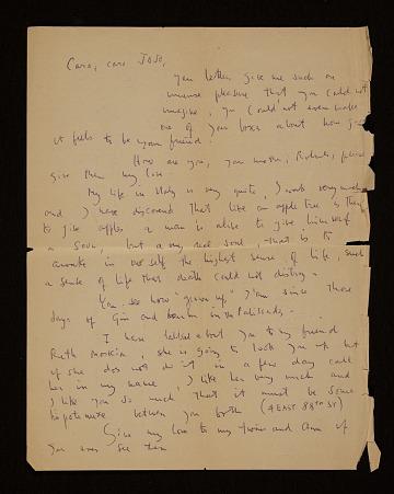 thumbnail image for Roberto Matta Echaurren letter to Joseph Cornell