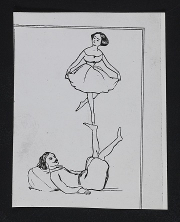thumbnail image for Clipping of a ballet dancer balancing on a man's foot