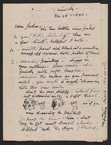 thumbnail image for Reginald Marsh letter to John Steuart Curry