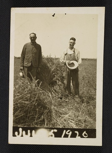 thumbnail image for John Steuart Curry and an unidentified man in a field
