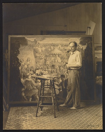 thumbnail image for John Steuart Curry working on <em>State Fair</em>