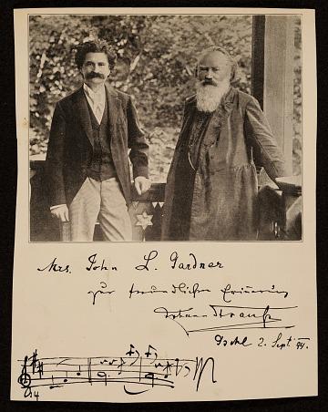 thumbnail image for Johann Strauss II and Johannes Brahms