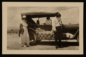 thumbnail image for Mabel Dodge, Alfred Dasburg, Mary Foote and Tony Luhan traveling in Taos, N.M.