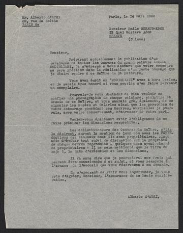 thumbnail image for Research material on Amedeo Modigliani, circa 1920-1962, bulk circa 1950s