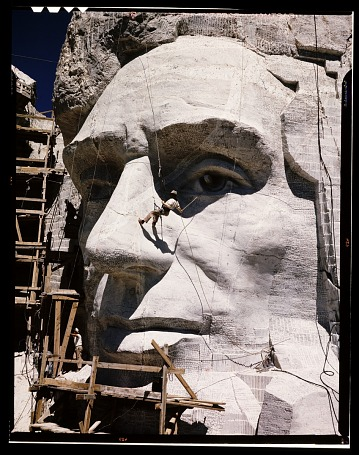 thumbnail image for Carving of Abraham Lincoln at Mount Rushmore