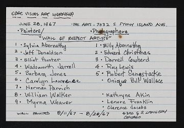 thumbnail image for List of artists who worked on the <em>Wall of Respect</em>