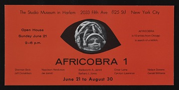 thumbnail image for Flyer for <em>AFRICOBRA I: Ten in Search of a Nation</em> at the Studio Museum in Harlem