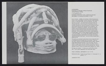 thumbnail image for Brochure for <em>AFRICOBRA: Exhibition of Chicago's African Commune of Bad Relevant Artists</em>