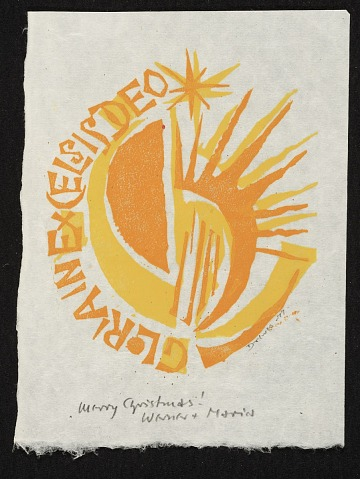 thumbnail image for Werner and Maria Drewes Christmas card to unidentified recipient