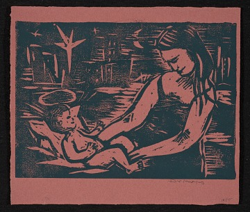 thumbnail image for Werner Drewes Christmas card to unidentified recipient