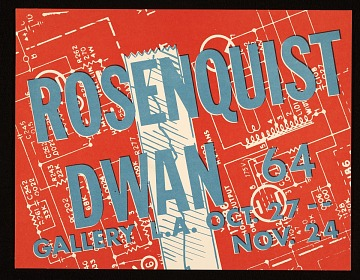 thumbnail image for Dwan Gallery flyer for a James Rosenquist exhibition