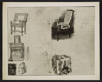 thumbnail image for Photograph of drawings from a letter (1866-1867) that Thomas Eakins wrote to his mother