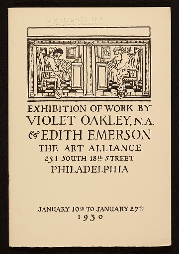 thumbnail image for Exhibition catalog of work by Violet Oakley & Edith Emerson