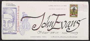 thumbnail image for John Evans papers, 1972-2012, bulk 1970s-2012