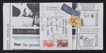 thumbnail image for Robert Morilla mail art to John Evans