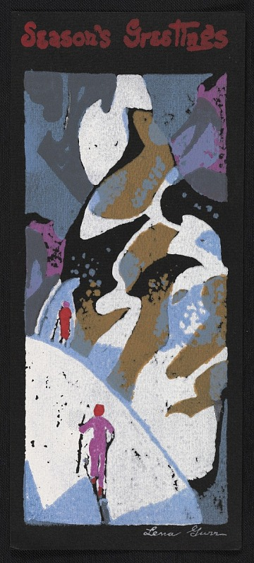 thumbnail image for Lena Gurr holiday card to Ralph Fabri