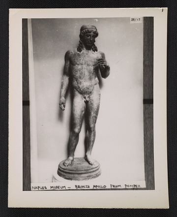 thumbnail image for Bronze Apollo statue from Naples Museum