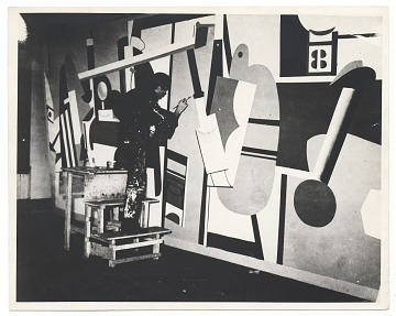 thumbnail image for Arshile Gorky working on <em>Activities on the field</em>