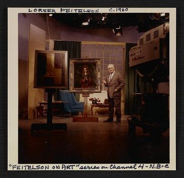 thumbnail image for Lorser Feitelson on the set of his television series <em>Feitelson on art</em>