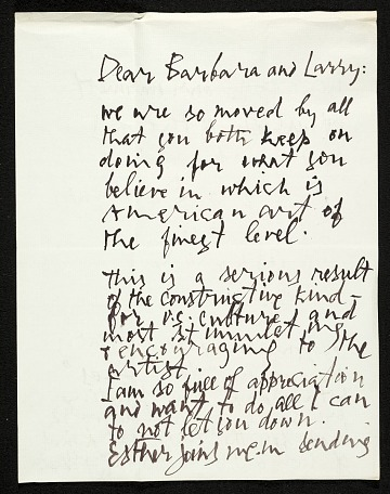 thumbnail image for Letter from Abraham Rattner to Lawrence and Barbara Fleischman