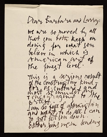 thumbnail image for Abraham Rattner, New York, N.Y. letter to Barbara and Lawrence Fleischman, Detroit, Mich.