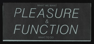 thumbnail image for Exhibition announcement for <em>Pleasure/Function</em>, Foundation for Art Resources