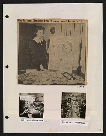 thumbnail image for La Vern Frank-Rush papers regarding the WPA Art Center in Sioux City, Iowa, 1936-2007, bulk 1936-1942