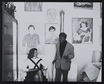 thumbnail image for Darthea Speyer and Beauford Delaney in his Paris studio