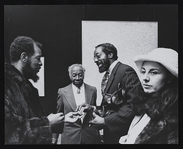 thumbnail image for Ornette Coleman with Beauford Delaney at <em>Beauford Delaney</em>