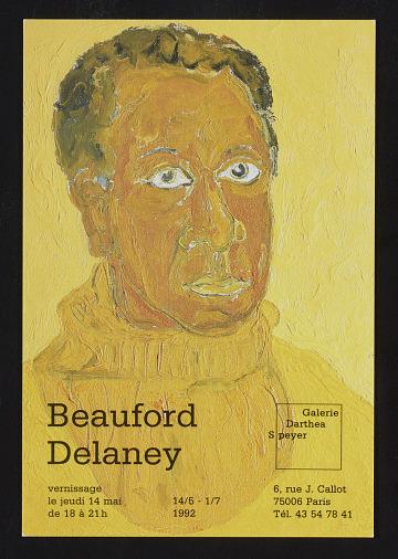 thumbnail image for Announcement card for <em>Beauford Delaney</em> at Galerie Darthea Speyer
