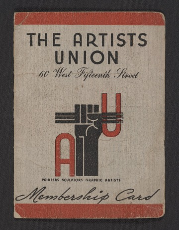 thumbnail image for Harry Gottlieb's Artists' Union membership card
