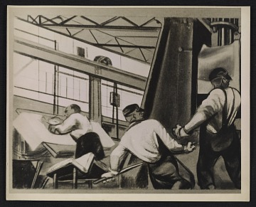 thumbnail image for A detail of William Gropper's <em>Automobile Industry</em> mural