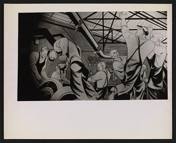 thumbnail image for A sketch for William Gropper's <em>Automobile Industry</em> mural