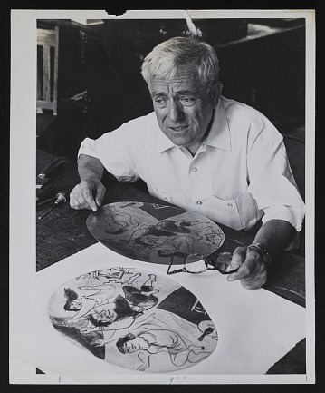 thumbnail image for Photograph of William Gropper with illustration