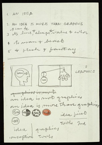 "thumbnail image for Frederick Hammersley notes on ""An idea"""