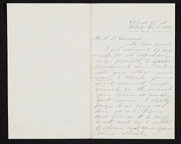 thumbnail image for John Bunyon Bristol, New York, N.Y. letter to Asher Brown Durand, New York, N.Y.