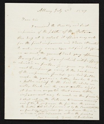 thumbnail image for Anson Dickinson, Albany, N.Y. letter to Asher Brown Durand, New York, N.Y.