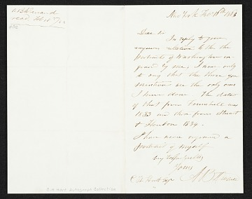 thumbnail image for Asher Brown Durand, New York, N.Y. letter to unidentified recipient
