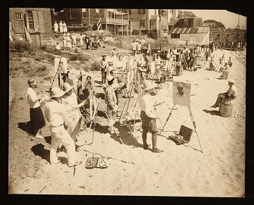 thumbnail image for Sketching class on the beach in Provincetown