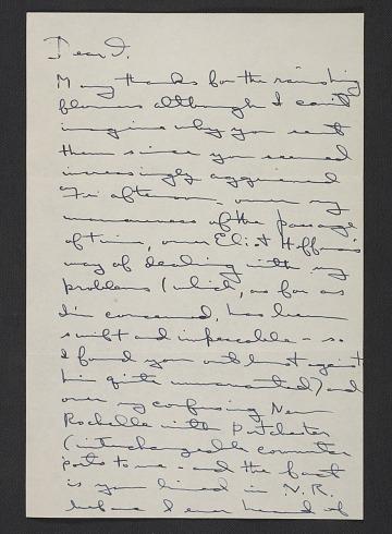 thumbnail image for Elaine Marie De Kooning letter to Thomas Hess