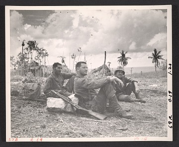 thumbnail image for Sergeant Theo Hios, Lieutenant J. Patrick Young, and Corp. Pete Walker