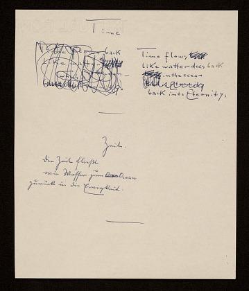 thumbnail image for Hans Hofmann poem <em>Time</em>, or, <em>Zeit</em>