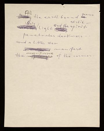 thumbnail image for Hans Hofmann poem <em>All the earth bound...</em>