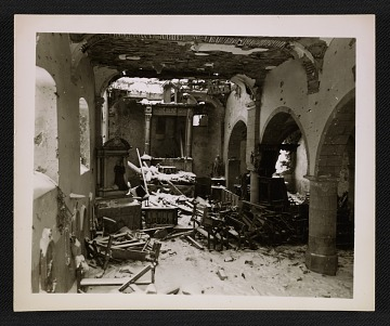 thumbnail image for Interior of La Gleize Church in Belgium after the Battle of the Bulge