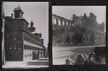 thumbnail image for Nuremberg City Hall before and after bombing