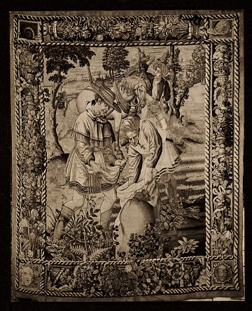 thumbnail image for Photo of a tapestry titled <em>The sower</em>