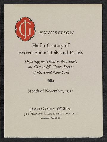 thumbnail image for James Graham & Sons gallery records, 1815, 1821, circa 1896-2011, bulk 1950s-1980s